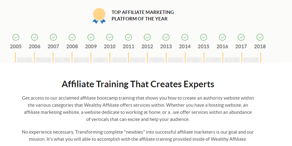Wealthy Affiliate Platform Awards