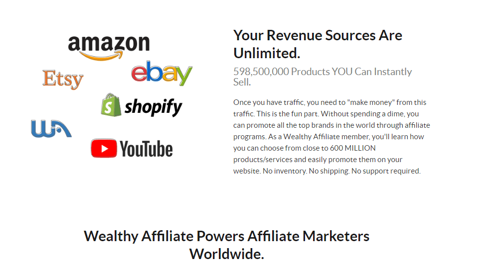 Wealthy Affiliate Products