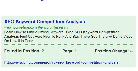 SEO Keyword Competition Analysis