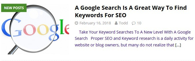 A Google Search For Keywords